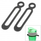 EDCGEAR Outdoor Camping / Cycling Elastic Silicone Cable Ties - Black (2 PCS)
