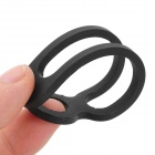 EDCGEAR Outdoor Sports Elastic Silicone Cable Ties - Black (2PCS)