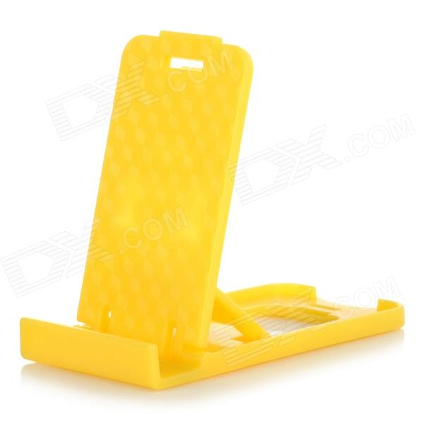 Mini Universal Desktop Mobile Phone Stand Holder - Yellow