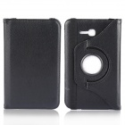 360 Degree Rotation Protective PU + PC Case Cover Stand for Samsung Galaxy Tab 3 Lite T110 - Black