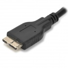 Micro USB 3.0 9pin Male to Male Cable for Samsung Galaxy Note 3 - Black (50cm)