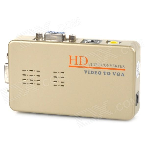 HD AV a VGA / S-Video a VGA - grigio dorato