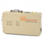 HD AV to VGA / S-Video to VGA Converter - Golden Grey