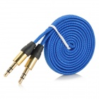 AZ-33 universell PVC 3,5 mm Audio kabel - mørk blå (100cm)
