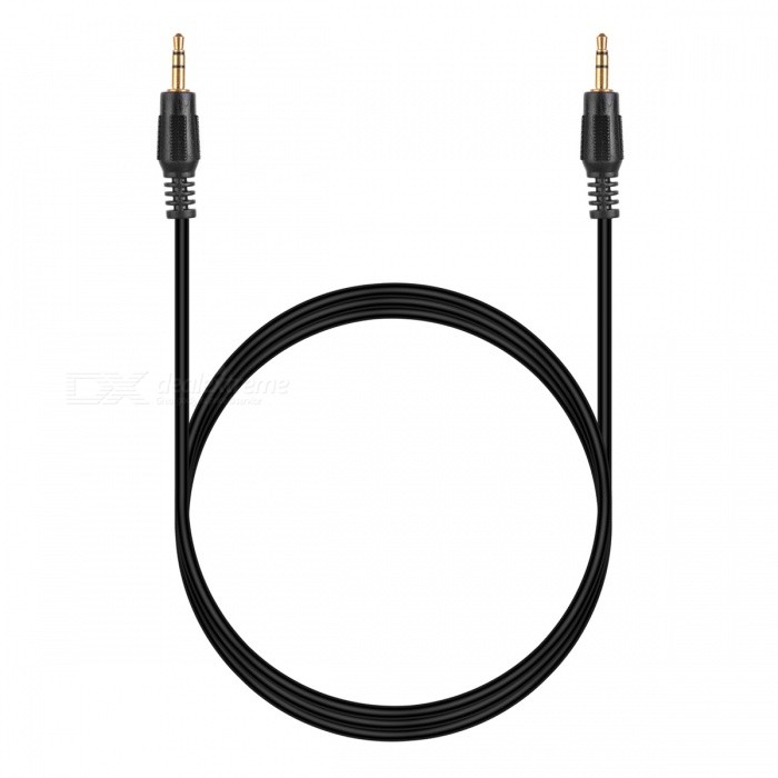 Ad-9 Universal PVC 3.5mm Audio Cable - Black (100cm)