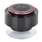 Waterproof 3W Wireless Bluetooth V3.0 Speaker w/ Microphone / 3.5mm Jack - Black + Dark Pink