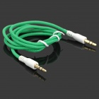 Zi-2 Universal PVC 3.5mm Audio Cable - Bluish Green (100cm)