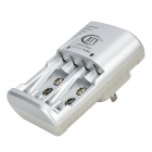 BTY 802B Portable Flipping US Plug NiCd AA / AAA Battery Charger - Silver + Gray