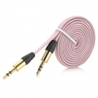 az-33 Universal PVC 3.5mm Audio Cable - Light Purple (100cm)