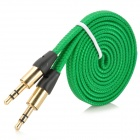 az-33 Universal PVC 3.5mm Audio Cable - Dark Green (100cm)