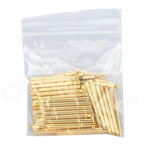 LSON R125-4S Gold Plated Brass Stylet Probe Sleeve - Golden (100 PCS) lson r50 2s soldering probe golden 100 pcs