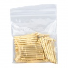 LSON R125-4S Gold Plated Brass Stylet Probe Sleeve - Golden (100 PCS)