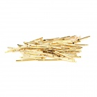 LSON Gold Plated Brass Stylet Probe Sleeve - Golden (100 PCS)