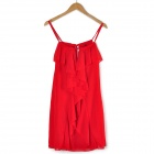 YLY-DSD209-5628 Fashion Sleeveless Dress - Red (Size L)