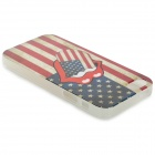 Graffiti Style US Flag Pattern Protective PVC Back Case for IPHONE 5 / 5S - Red + White