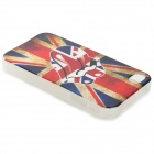 Graffiti UK Flag Protective PVC Back Case for IPHONE 4 / 4S - White + Blue