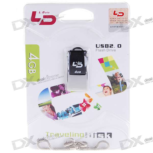 Waterproof USB 2.0 Jump/Flash Drive Keychain (4GB)