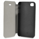Tribal Style Protective PU Leather + Plastic Flip Open Case w/ Stand for IPHONE 4 / 4S