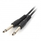 3,5 mm Muž na 2 x 6,35 mm Male Audio Connection Cable - Black (3 m)