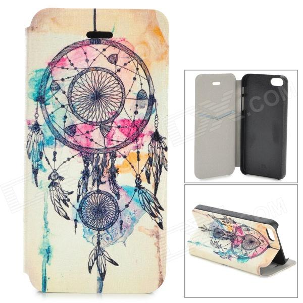 Tribal Style Protective Flip Open PU Leather + Plastic Case w/ Stand / Card Slot for IPHONE 5 / 5S
