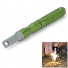 Handy Outdoor Fire Lighting Magnesium Flint Stone Tool Set - Green