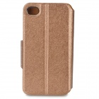 Protective Flip Open PU + Plastic Case w/ Stand / Card Slots for IPHONE 4 / 4S - Champagne