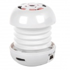 T01 2.2W Mini Portable Retractable Stereo Speaker w/ TF - White (16G Max.)