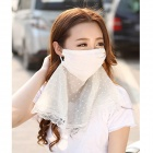 Chiffon Dust-proof Suncare Face Mask for Women - White