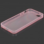 0.1mm Protective Back Case for IPHONE SE / 5 / 5S - Translucent Pink