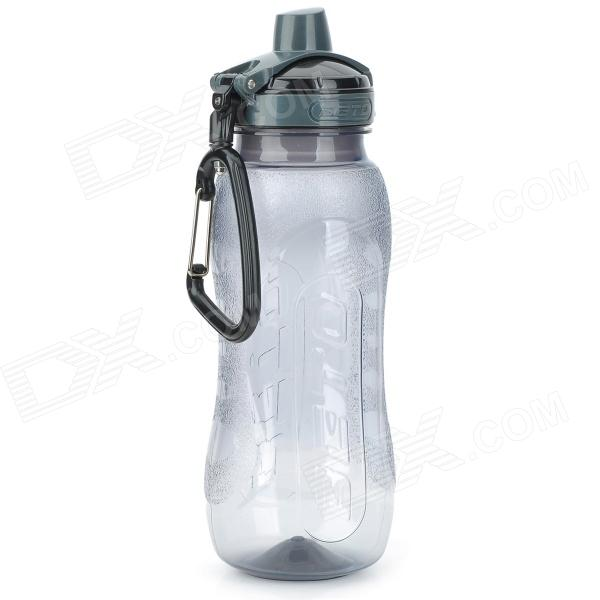 BETO WB-217S Convenient PP Sports Water Bottle w/ Carabiner for Cycling - Translucent Grey (650ml)