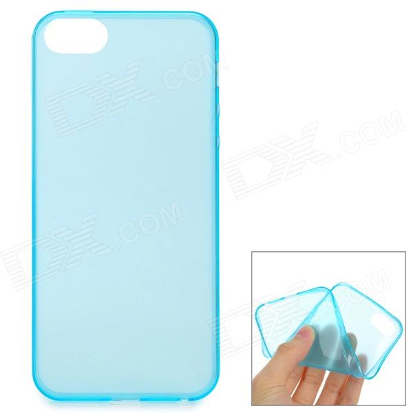 0.1mm Ultra-thin Protective TPU Back Case for IPHONE 5 / 5S - Translucent Blue