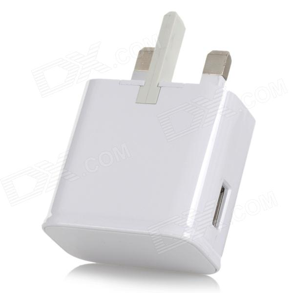 Mobile Phone UK Three-flat-Plug Charger for Samsung Note 3 N9000 / S5 - White (100~240V)