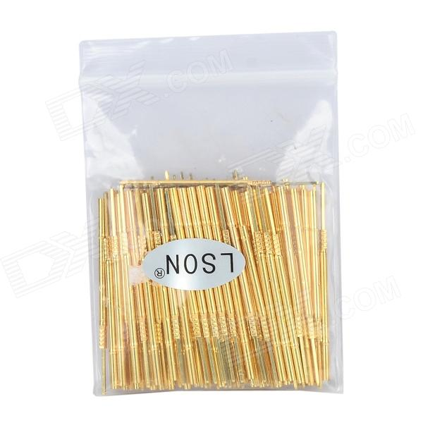 LSON PR100-4W Gold Plated Brass Stylet Probe Sleeve - Golden (100 PCS) crystal probe oscillator test socket burn in socket for 7050 4pin crystal size 7 0x5 0mm xo crystal test socket burn in socket