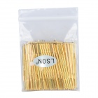 LSON PR100-4W Vergoldete Bronze Stilett Probe Sleeve - Golden (100 PCS)