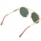 Retro Style Zinc Alloy Frame PC Lens UV400 Protection Sunglasses - Silver + Red REVO