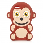 Cute Monkey Style Silicone Back Case for IPHONE 5 - Brown + White