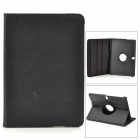 Lychee Pattern Protective PU + PC Case w/ Stand for Samsung Galaxy Tab Pro 10.1 / T520 - Black