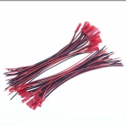 DIY Aircraft Model JST Male to Female Connection Cables for Arduino Raspberry - Red (20-Pair)