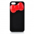 Bowknot Style Protective Plastic Back Case for IPHONE 5S / 5 - Black + Red