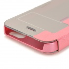 HELLO DEERE Protective PU Case w/ Stand for IPHONE 5S / 5G - Deep Pink