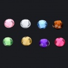 Crystal Home Button Sticker for IPHONE 5 / 5S / IPAD / IPOD TOUCH + More - Multicolored