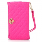 Universal Protective PU Case / Wallet for IPHONE 3GS / 4 / 4S / 5 - Deep Pink