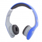 NK-898 Stereo V2.1 Bluetooth Headset Headphone w/ FM / Mic - Blue + Grey + Black