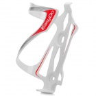 EASYDO ED-023 Aluminum Alloy Bicycle Water Bottle Cage / Holder - Red + White