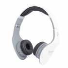 NK-898 Stereo Bluetooth V2.1 Headset Headphones w/ FM / Microphone - White + Gray + Black