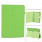 Lychee Pattern Protective PU Case w/ Stand for Samsung Galaxy Note Pro P900 - Green