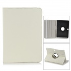 Lychee Pattern Protective PU + PC Case w/ Stand for Samsung Galaxy Tab Pro 10.1 / T520 - White