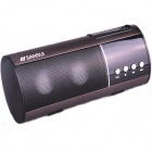 "SANSUI D10 1.0"" LED 2-CH Bass Media Player Speaker w/ FM / Music / TF - Brown + Black"
