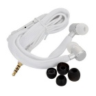 HXT-2026 Shoe Lace Style Universal 3.5mm In-Ear Earphone for Samsung / IPHONE / Sony - White (110cm)