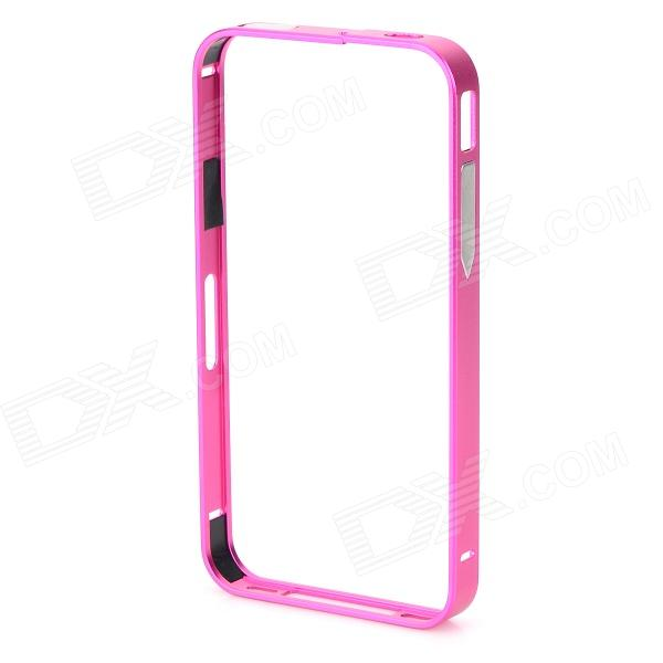 S-What Aluminum Alloy Metal Bumper Case for IPHONE 4 / 4S - Deep Pink
